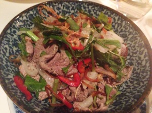 Vietnamese beef salad at Cay Tre Soho