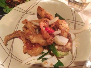 Soft shell crab at Cay Tre Soho