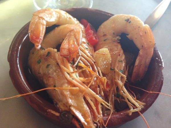 Prawns, chili, garlic at Jose