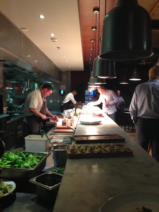Open kitchen at Smiths, Spitalfields