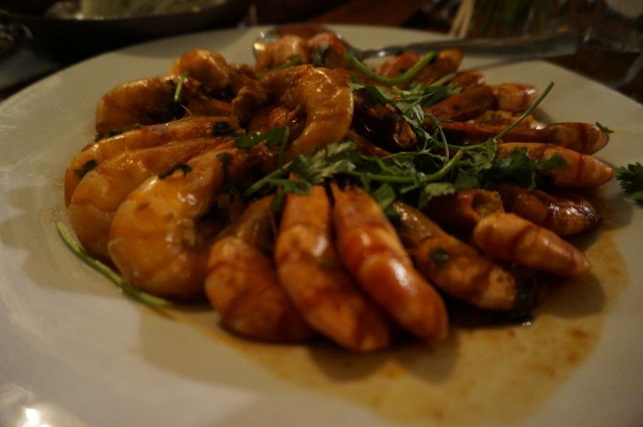 Dream of Shanghai fragrant shell-on prawns at Shanghai Moon supper club