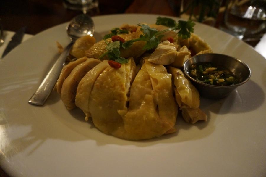 Drunken chicken at Shanghai Moon supper club