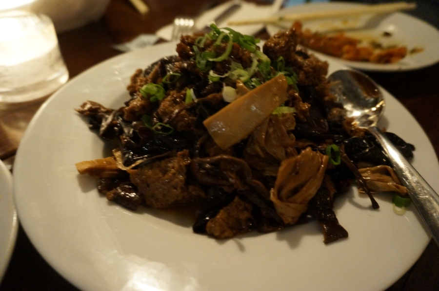Kaofu with black fungus and shiitake mushrooms at Shanghai Moon supper club
