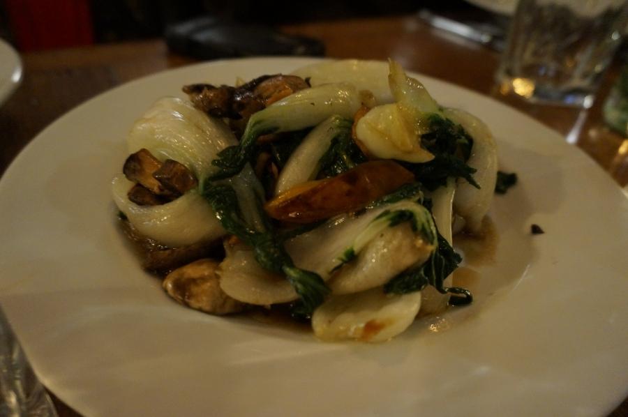 Stir-fried seasonal veg at Shanghai Moon supper club