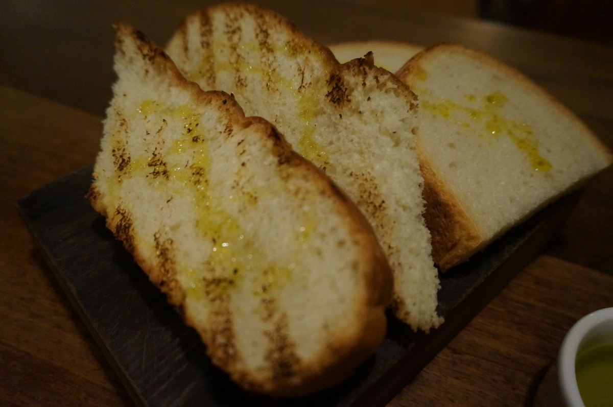 Bread and foccacia at Mele e Pere