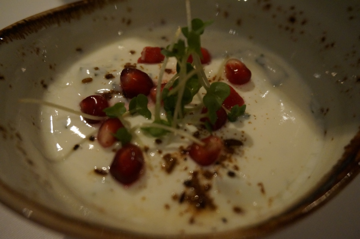 Pomegranate raita at Moti Mahal