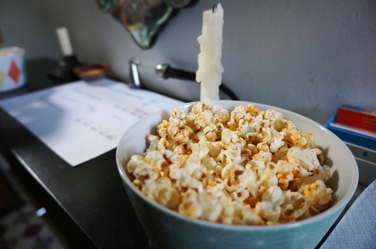 Popcorn at The London Foodie's Supper Club