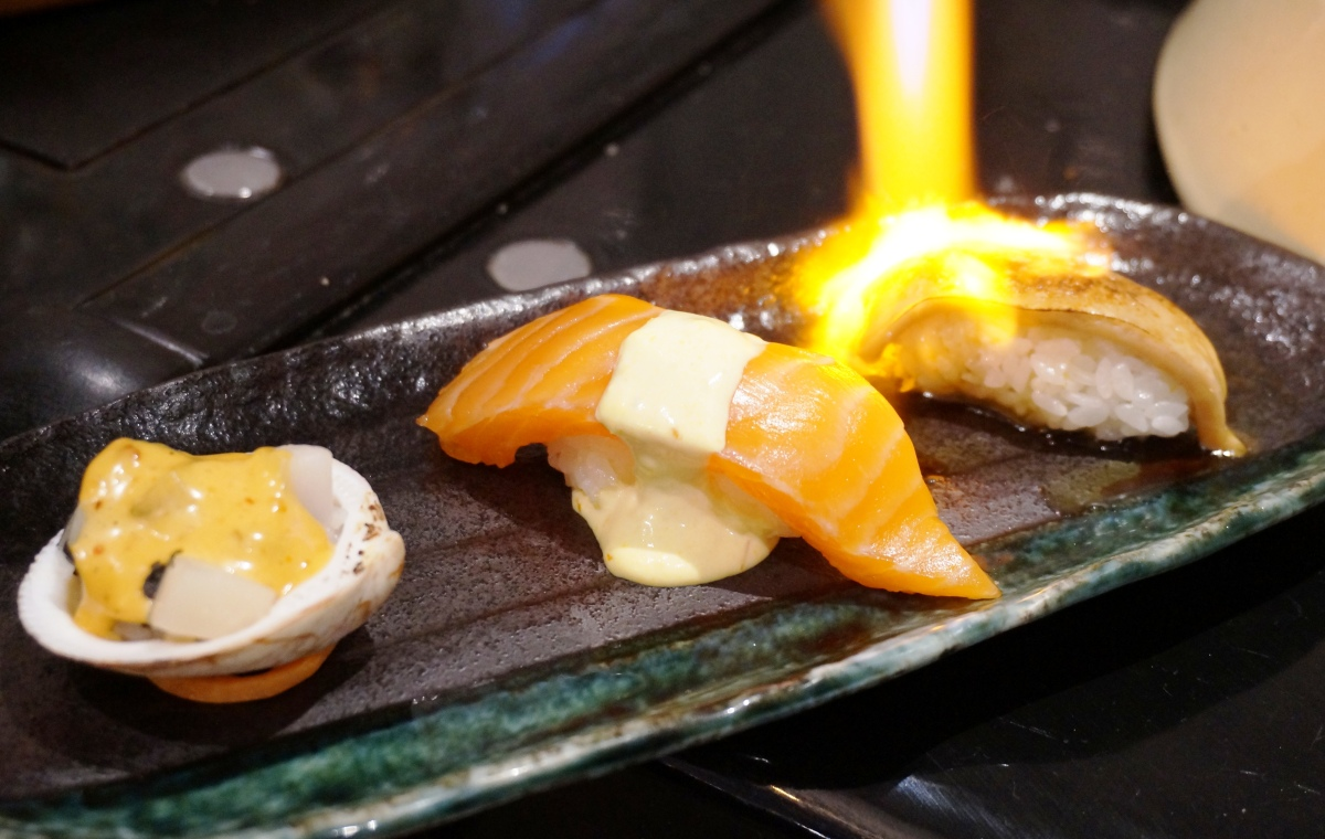 Nikkei surf and turf sushi at The London Foodie's Japanese supper club
