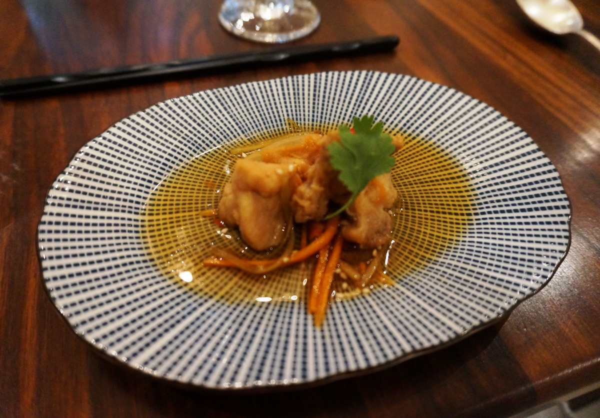 Chicken nanban at The London Foodie's Japanese supper club