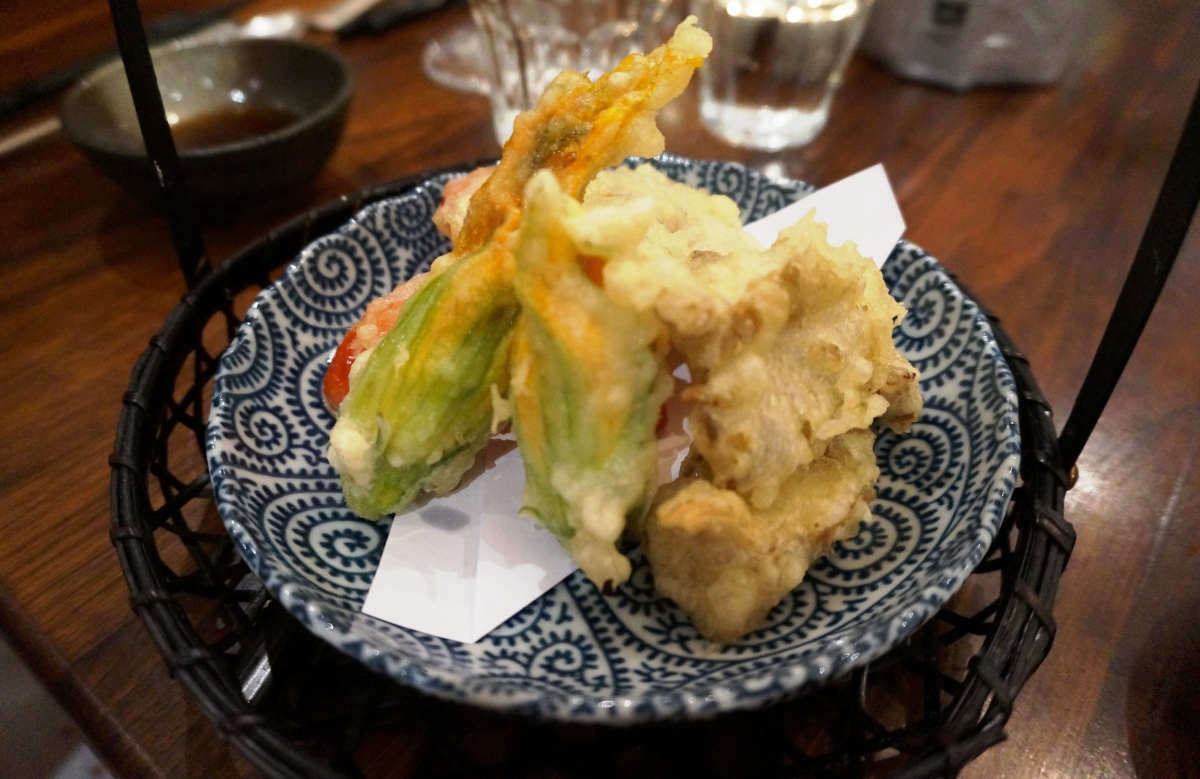 Vegetable tempura at The London Foodie's Japanese supper club