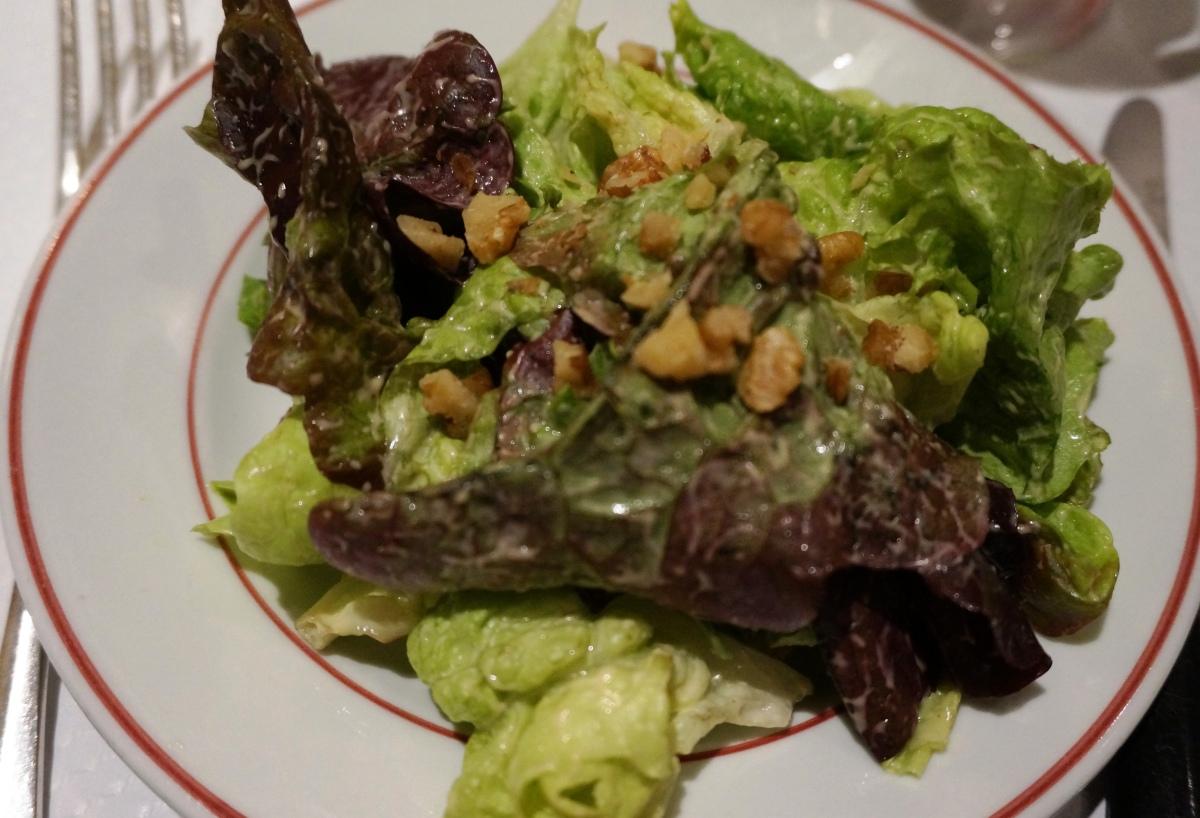 Salad at Le Relais de Venise, L'Entrecote, Canary Wharf
