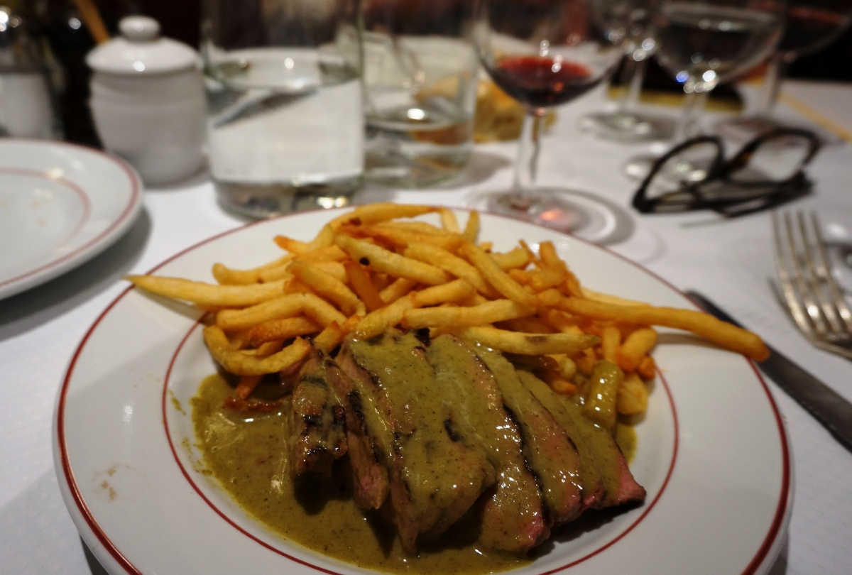 Steak frites at Le Relais de Venise, L'Entrecote, Canary Wharf