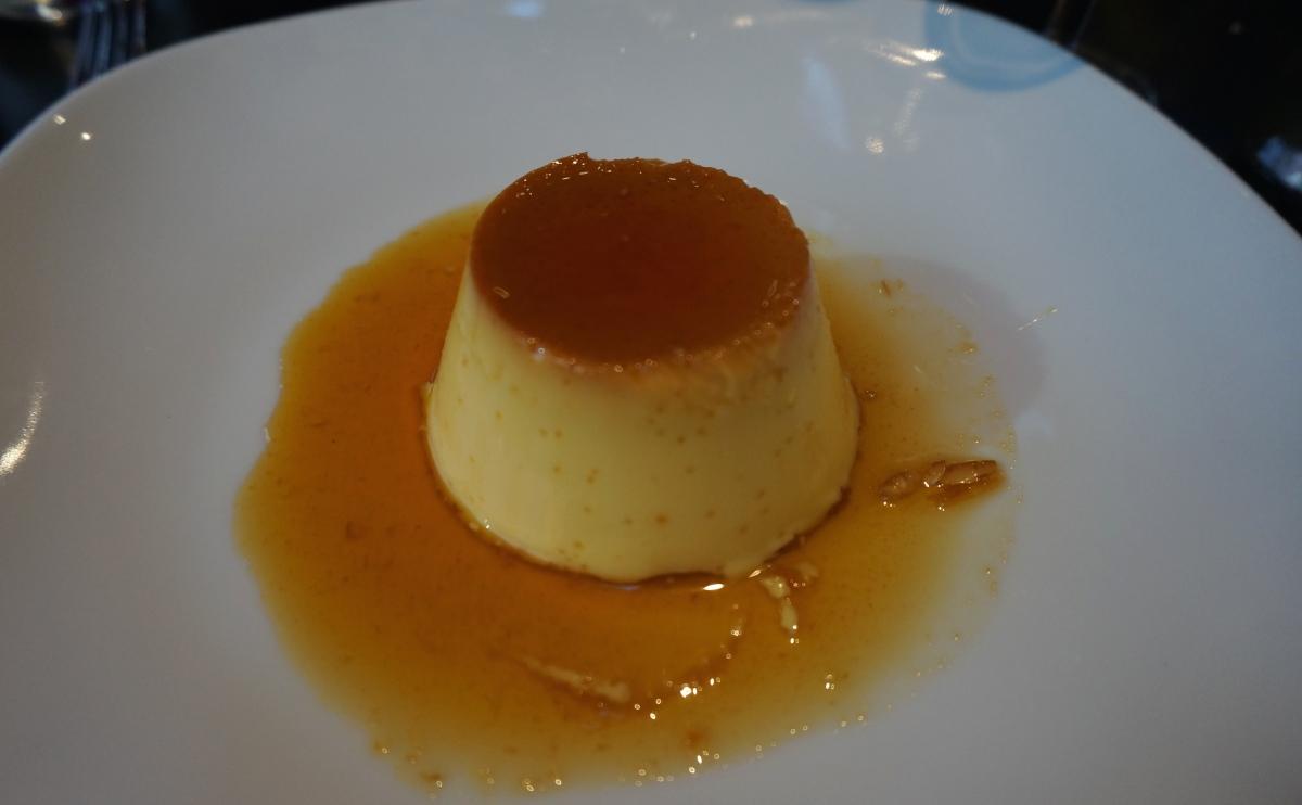 Creme caramel at La Mancha